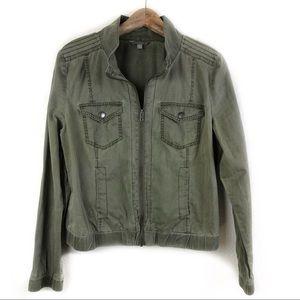 Rubbish Distressed Green Jacket XLarge Juniors